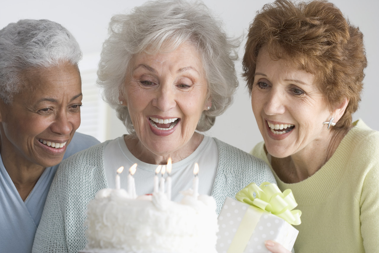 Women Celebrating Birthday