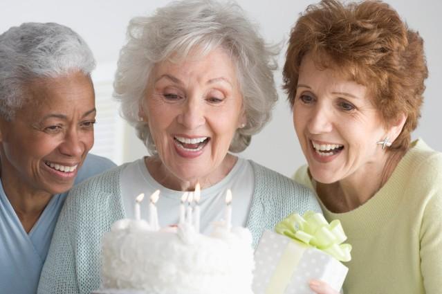 Women Celebrating Birthday